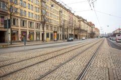 22 01 2018 Дрезден, Германия - старые красивые дома в Дрездене, s Стоковые Изображения