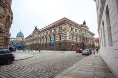 22 01 2018 Дрезден, Германия - старые красивые дома в Дрездене, s Стоковые Фотографии RF