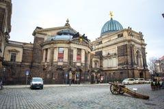 22 01 2018 Дрезден, Германия - старый карамболь XVII века Стоковое Изображение