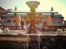 Дрезден, деталь здания Zwinger стоковое фото rf