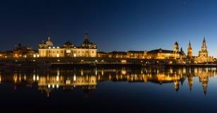 Дрезден на вечере, Саксония, Германия стоковые изображения