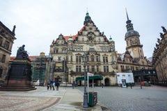 22 01 Дрезден 2018; Собор Германии - Дрездена святого Trin Стоковая Фотография