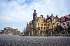 22 01 Дрезден 2018; Собор Германии - Дрездена святого Trin Стоковое Изображение