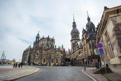22 01 Дрезден 2018; Собор Германии - Дрездена святого Trin Стоковое Фото