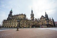 22 01 Дрезден 2018; Собор Германии - Дрездена святого Trin Стоковые Фото