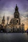 Дрезден в вечере Стоковое Изображение