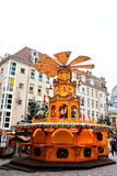 Дрезден, Германия, 19-ое декабря 2016: Рождественская ярмарка dresden Германия Праздновать рождество в Европе Стоковые Изображения RF