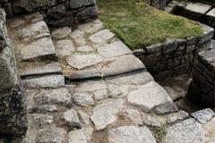 Дренаж Machu Picchu Перу Южная Америка воды каменных стен Стоковые Изображения