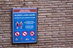 Дресс-код, правила и запреты в Ватикане Стоковые Изображения RF
