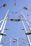 дробит уличные фонари на участки перспективы совместно Стоковые Фото