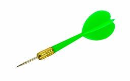 Дротики зеленого цвета или зеленая стрелка Стоковое Изображение