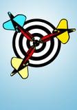 дротики bullseye Стоковое Изображение