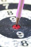 Дротик стрелки карандаша цели Стоковое фото RF
