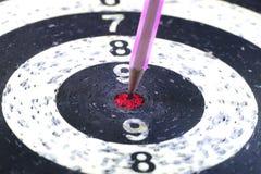 Дротик стрелки карандаша цели Стоковая Фотография RF