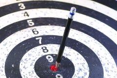 Дротик стрелки карандаша цели Стоковое Изображение RF