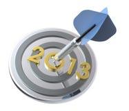Дротик ударяя цель - Новый Год 2013 иллюстрация штока