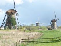 Другая группа в составе ветрянки в Голландии стоковое изображение