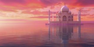 другая точка зрения Тадж-Махала бесплатная иллюстрация