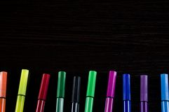 Другие цвета конца-вверх отметок геометрически ровные Стоковое Изображение RF