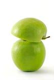 другое яблоко - зеленая половина Стоковая Фотография