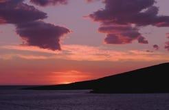 другой справедливый заход солнца океана Стоковые Фотографии RF