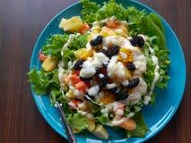 Другой фруктовый салат фрукта и овоща стоковая фотография rf