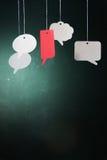Другой цвет пузыря речи Стоковое Фото