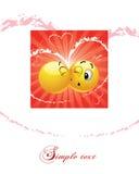 другой smiley шарика целуя Стоковое фото RF