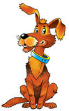 Друг воротника шаржа чертежа собаки Стоковое Фото