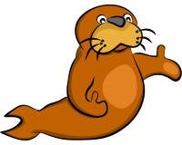 Друг морсого льва Стоковое Изображение