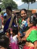 Дружелюбная дама в Индии Стоковые Фотографии RF