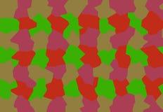 Дружелюбная команда красных, зеленых, розовых абстракций составляет творческую предпосылку для экрана компьютера, телефона, табле стоковое фото