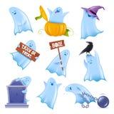 Дружелюбные призраки вектора Стоковые Фото