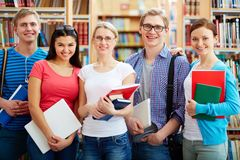 Дружелюбные студенты Стоковая Фотография RF