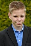 Дружелюбный мальчик подростка стоковое фото