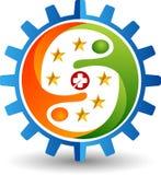 Дружелюбный логотип шестерней Стоковые Фотографии RF