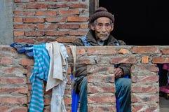 Дружелюбный старик в Luang Nam Tha, Лаосе Стоковое фото RF