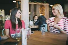 Друзья злословя и беседуя в кафе Стоковое Изображение