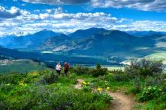 Друзья идя на луга в северном национальном парке каскадов Стоковые Изображения