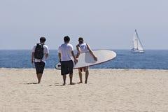 друзья пляжа Стоковые Изображения RF
