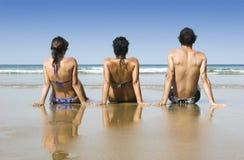 друзья пляжа Стоковая Фотография