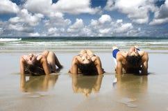 друзья пляжа стоковые фото