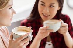 Друзья тратят время совместно на перерыве на чашку кофе Стоковая Фотография