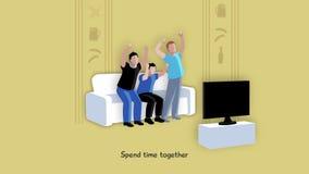 Друзья тратя отснятый видеоматериал времени совместно акции видеоматериалы