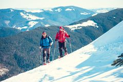 2 друз в горах Стоковое Изображение RF