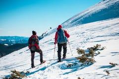 2 друз в горах Стоковая Фотография RF