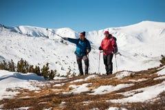 2 друз в горах Стоковые Изображения