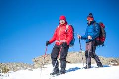 2 друз в горах Стоковая Фотография