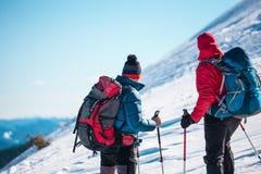 2 друз в горах Стоковые Фотографии RF