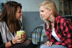 2 друз в кафе Стоковое Фото